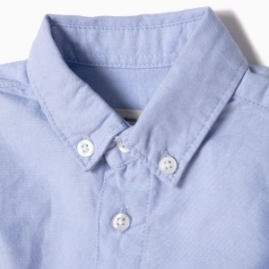 Body Camisa Oxford Azul